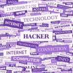 Hacker word cloud concept illustration