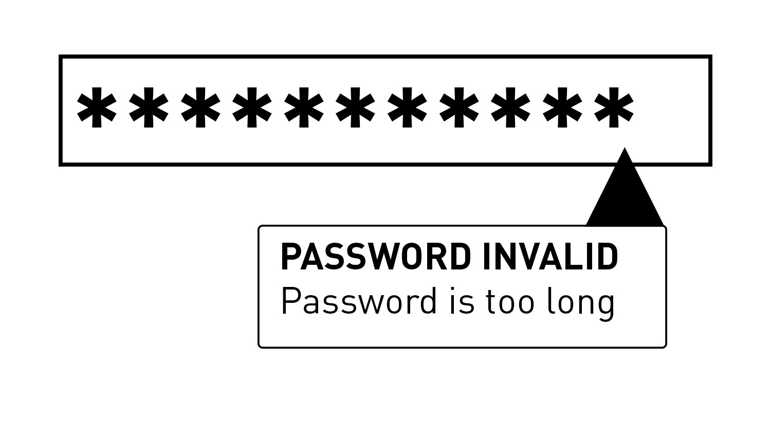 Why is my Password Too Long?