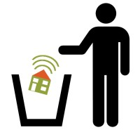 Smart Home disposal icon