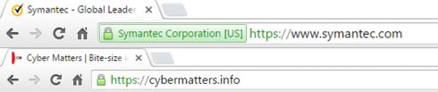 Google chrome browser padlock